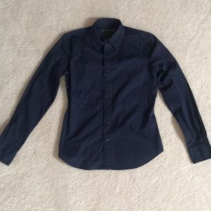 Ralph Lauren Button Down Navy Blouse